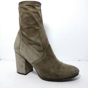 Via Spiga Gray Suede Chunky Heel Boots size9